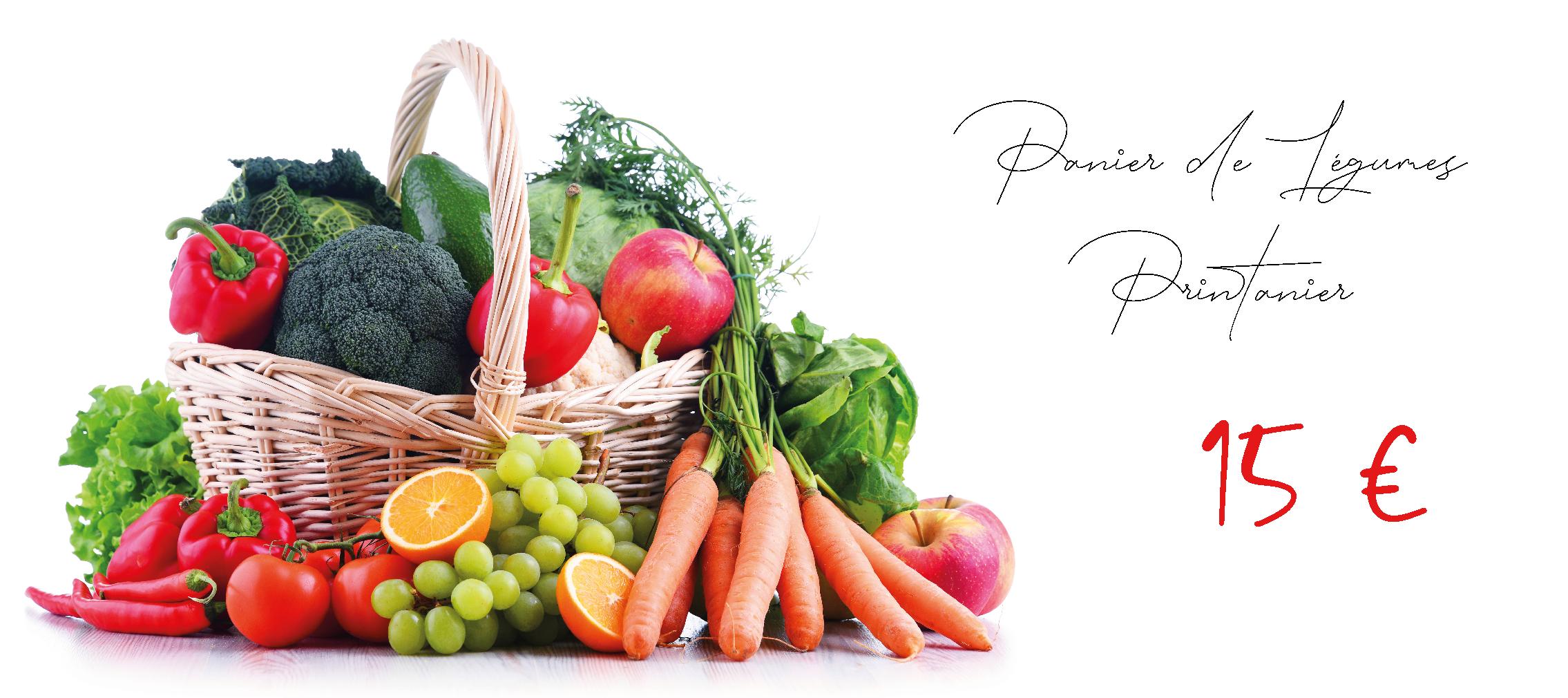 Paniers de Fruits et Légumes Printanier